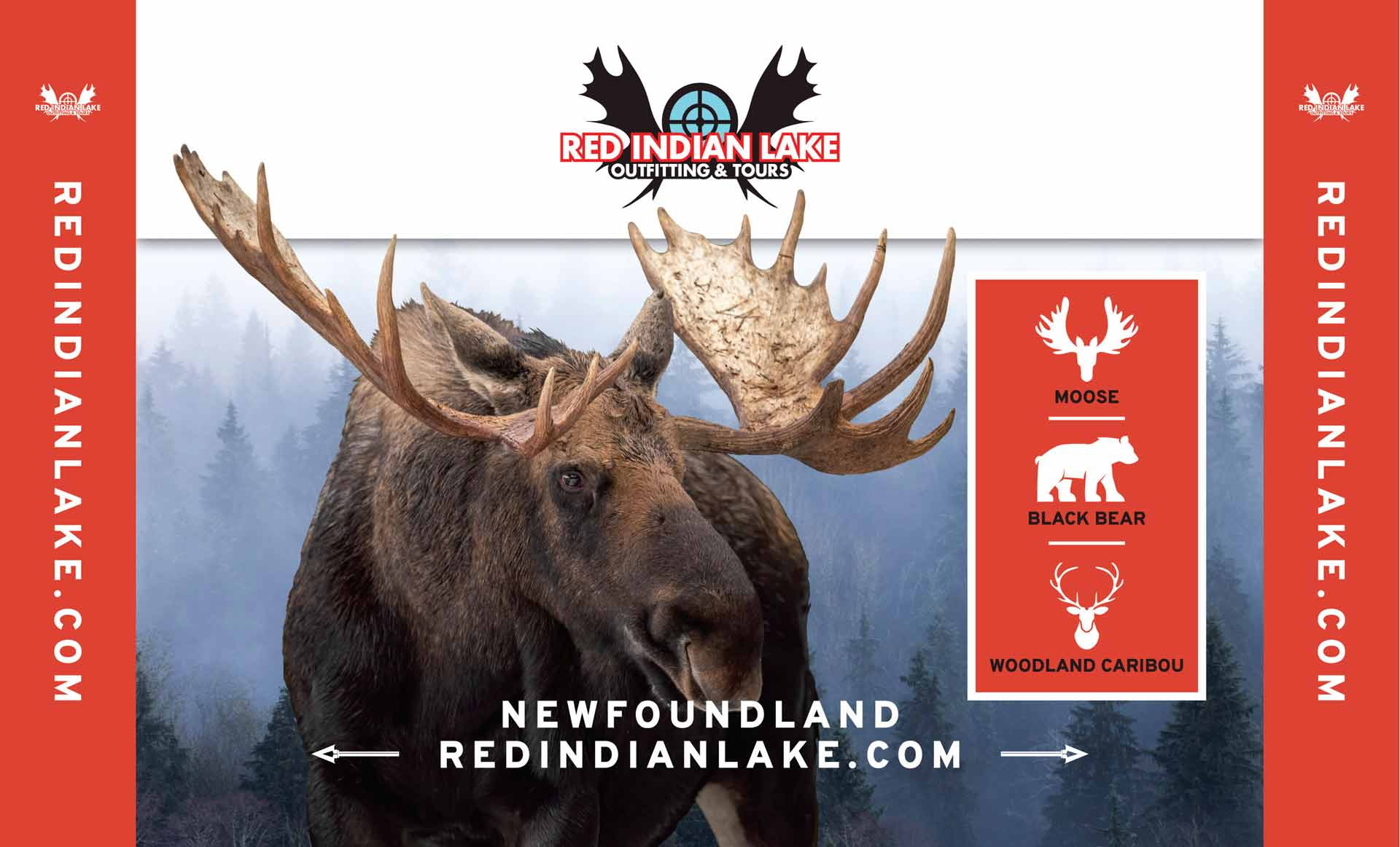 Newfoundland big game hunting Moose Woodland Caribou and Black Bear at Red Indian Lake Outfitting